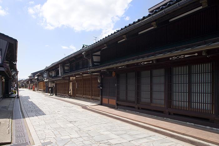 金屋町(千本格子の家並み)の写真